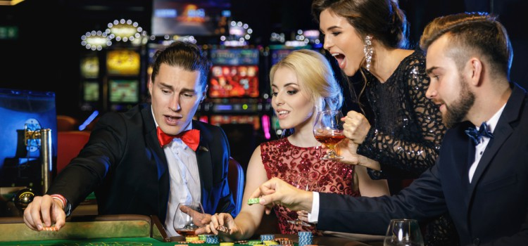Group of Friends from Los Angeles gambling in Las Vegas