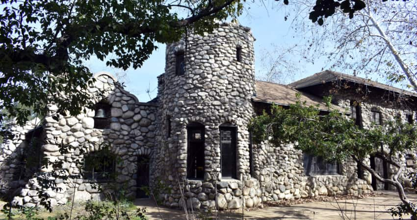 exterior of the Lummis Home in Los Angeles