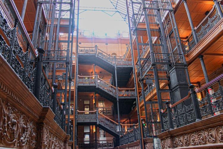 Inside of the Bradbury Building
