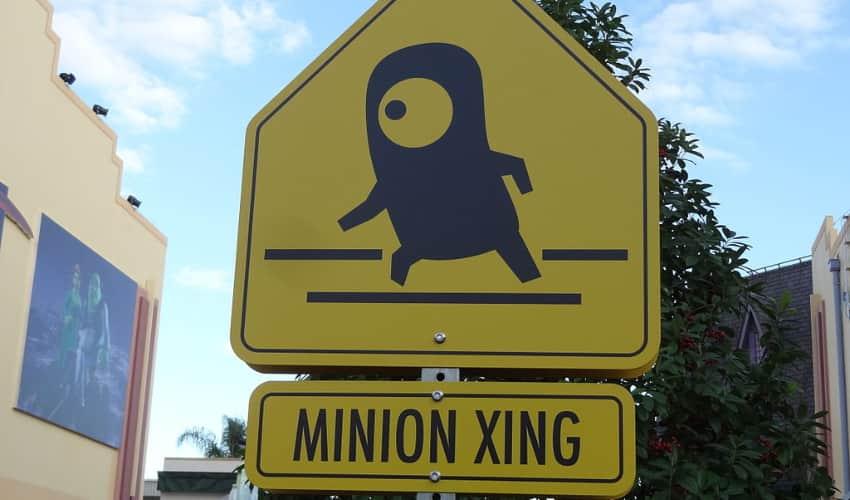 A Minion Mayhem sign at Universal Studios Hollywood.