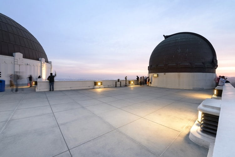 the roof of the observatory