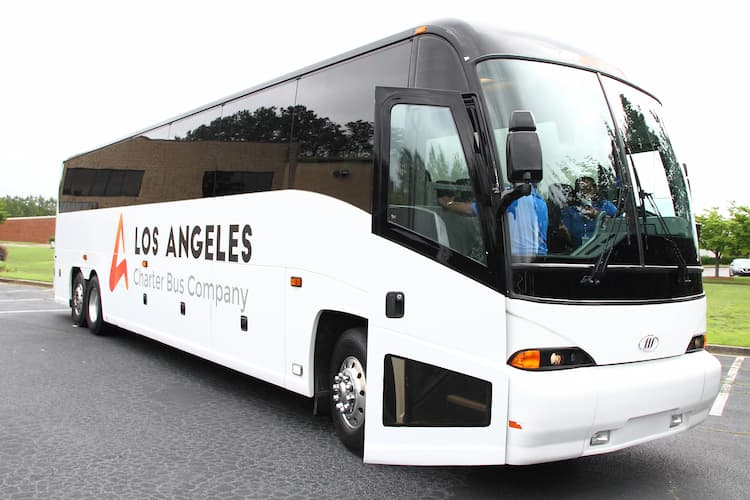 Los Angeles Charter Bus branded motorcoach